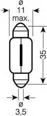 Лампа накаливания 12В 10Вт OSRAM 6461 - изображение