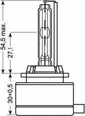 Лампа газоразрядная(ксеноновая) D1S 85В 35Вт OSRAM OSRAM XENARC 66140 - изображение