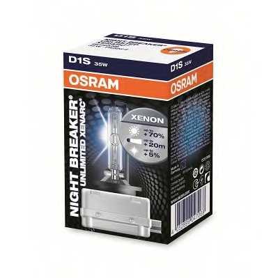 Лампа газоразрядная(ксеноновая) D1S 85В 35Вт +70% OSRAM OSRAM XENARC NIGHT BREAKER UNLIMITED 66140XNB - изображение 1