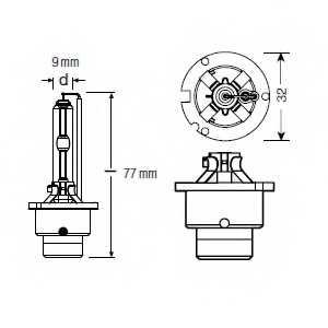 Лампа накаливания OSRAM D2S / 66240XNB - изображение