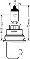 Лампа накаливания HB1 12В 65/45Вт OSRAM 9004 - изображение 1