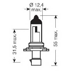 Лампа накаливания HB4A 12В 51Вт OSRAM 9006XS - изображение