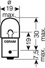 Лампа накаливания R5W 12В 5Вт OSRAM 5007 - изображение 1
