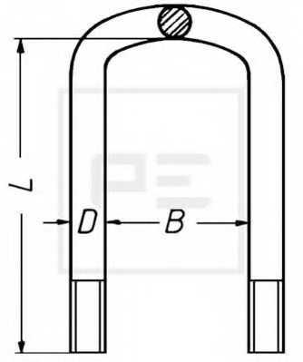 Стремянка рессоры PE Automotive 045.021-00A - изображение