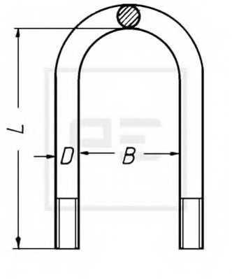 Стремянка рессоры PE Automotive 045.033-00A - изображение