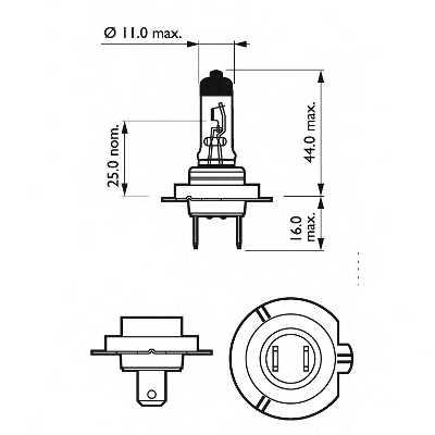 Лампа накаливания PHILIPS GOC 47208330 / 12035RAC1 - изображение 1
