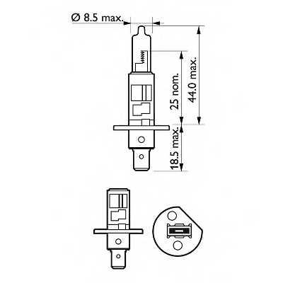 Лампа накаливания PHILIPS GOC 69645830 / 12454RAC1 - изображение
