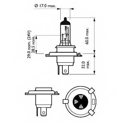 Лампа накаливания PHILIPS GOC 40176230 / 12593RAC1 - изображение 1