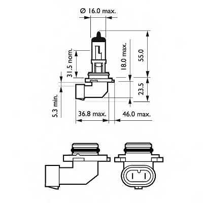 PHILIPS 9006PRC1 - лампа HB4 (9006) 12V 60W P22d (серия Vision) - изображение 2