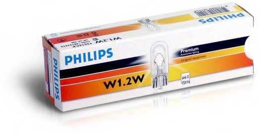 Лампа накаливания 12В 1.2Вт PHILIPS 12516CP - изображение 2