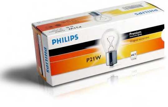 PHILIPS 12498CP - лампа P21W 12V 21W BA15s - изображение 2