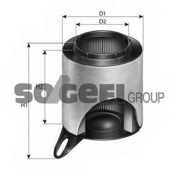 Фильтр воздушный PURFLUX A1201 - изображение 1