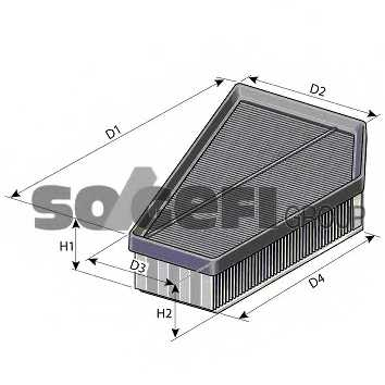 Фильтр воздушный PURFLUX A1400 - изображение 1