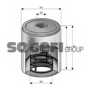 Фильтр воздушный PURFLUX A1413 - изображение 1