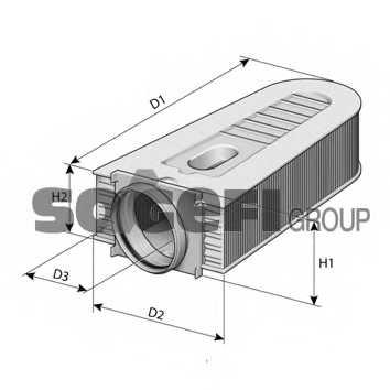 Фильтр воздушный PURFLUX A1470 - изображение