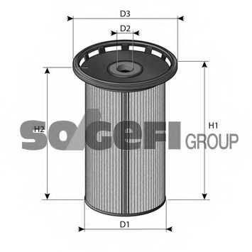 Фильтр топливный PURFLUX C813 - изображение 1