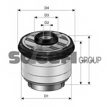 Фильтр топливный PURFLUX C823 - изображение 1