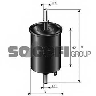 Фильтр топливный PURFLUX EP221 - изображение 1