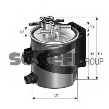 Фильтр топливный PURFLUX FCS740 - изображение 1
