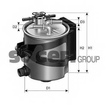 Фильтр топливный PURFLUX FCS750 - изображение 1