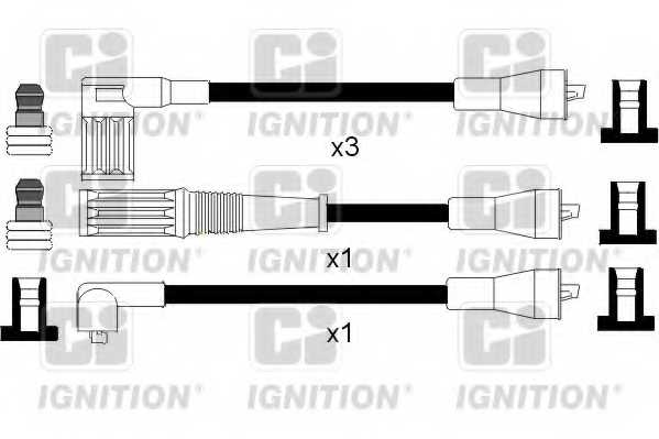Комплект проводов зажигания QUINTON HAZELL XC181 - изображение