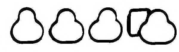Комплект прокладок впускного коллектора REINZ 11-34156-01 - изображение