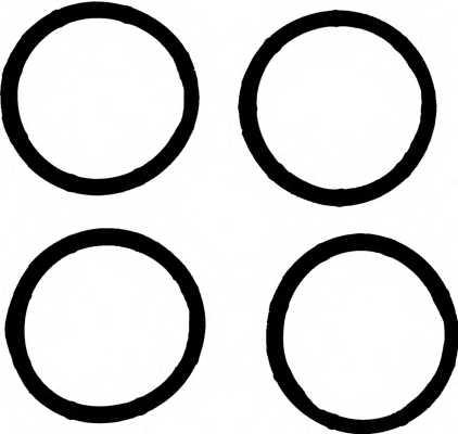 Комплект прокладок впускного коллектора REINZ 11-37824-01 - изображение