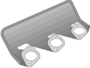 Прокладка выпускного коллектора REINZ 71-27122-10 - изображение