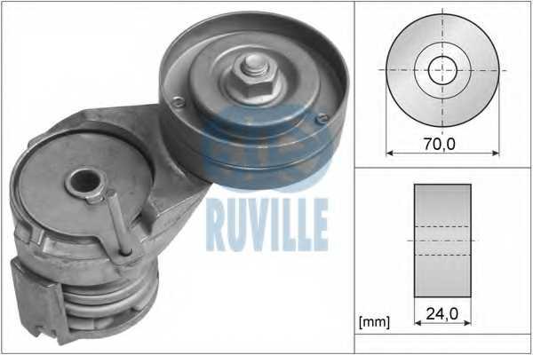 Натяжная планка поликлинового ремня RUVILLE 55738 - изображение