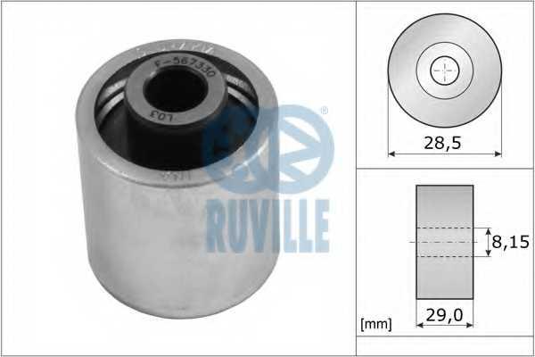 Паразитный / ведущий ролик зубчатого ремня RUVILLE 55773 - изображение