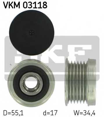Механизм свободного хода генератора SKF VKM 03118 - изображение