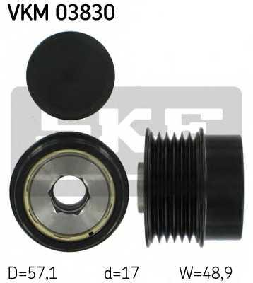 Механизм свободного хода генератора SKF VKM 03830 - изображение