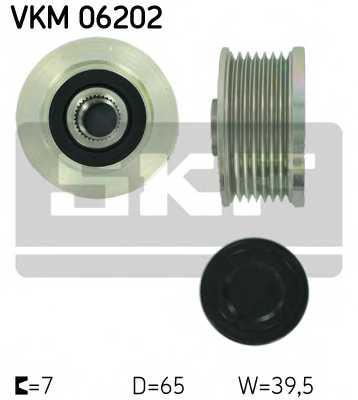 Механизм свободного хода генератора SKF VKM 06202 - изображение