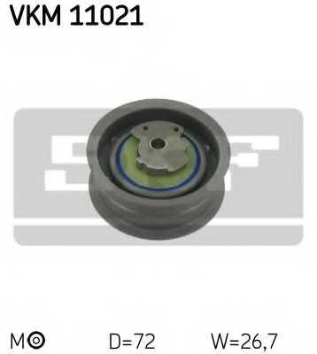 Натяжной ролик ременя ГРМ SKF VKM 11021 - изображение