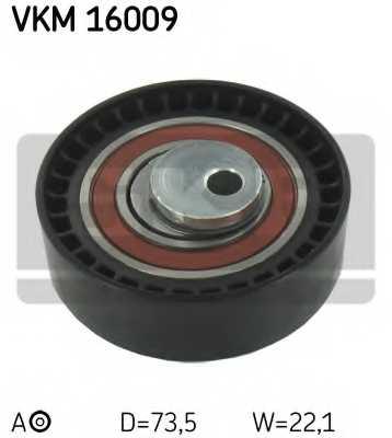 Натяжной ролик ременя ГРМ SKF VKM 16009 - изображение