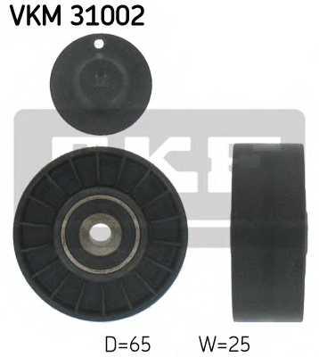 Паразитный / ведущий ролик поликлинового ременя SKF VKM 31002 - изображение