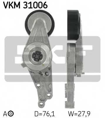 Натяжной ролик поликлиновогоременя SKF VKM 31006 - изображение