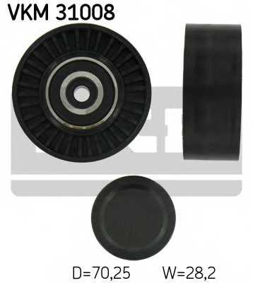Паразитный / ведущий ролик поликлинового ременя SKF VKM 31008 - изображение