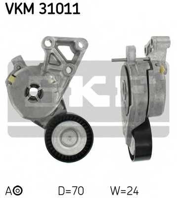 Натяжной ролик поликлиновогоременя SKF VKM 31011 - изображение