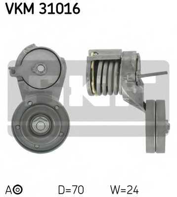 Натяжной ролик поликлиновогоременя SKF VKM 31016 - изображение