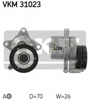 Натяжной ролик поликлиновогоременя SKF VKM 31023 - изображение