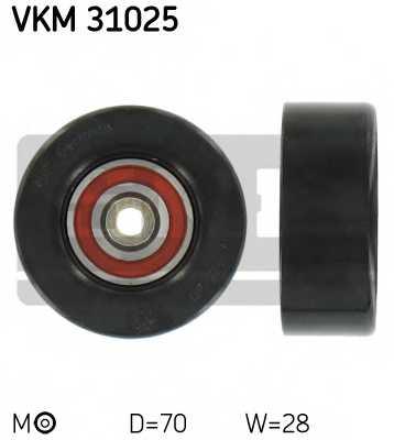 Натяжной ролик поликлиновогоременя SKF VKM 31025 - изображение