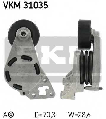 Натяжной ролик поликлиновогоременя SKF VKM 31035 - изображение