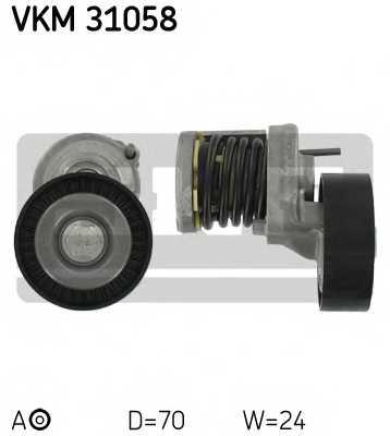 Натяжной ролик поликлиновогоременя SKF VKM 31058 - изображение