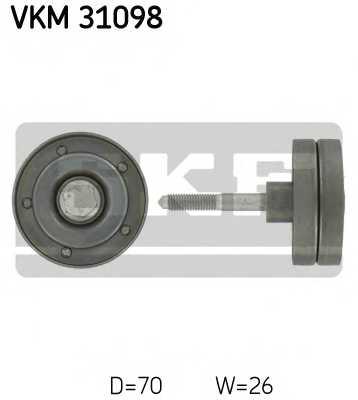 Паразитный / ведущий ролик поликлинового ременя SKF VKM 31098 - изображение