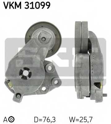 Натяжной ролик поликлиновогоременя SKF VKM 31099 - изображение