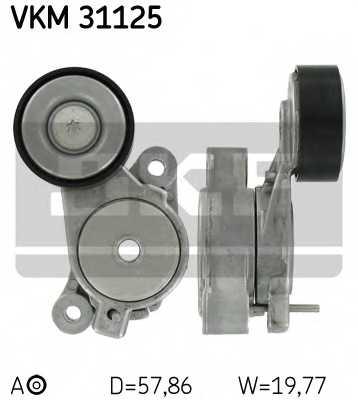 Натяжной ролик поликлиновогоременя SKF VKM31125 - изображение