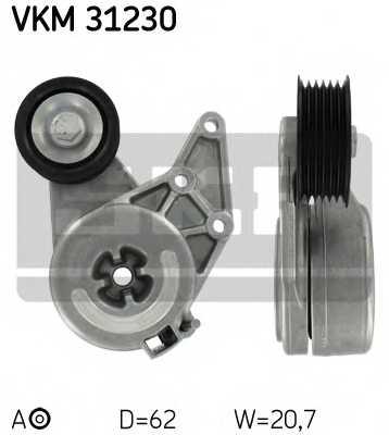 Натяжной ролик поликлиновогоременя SKF VKM 31230 - изображение