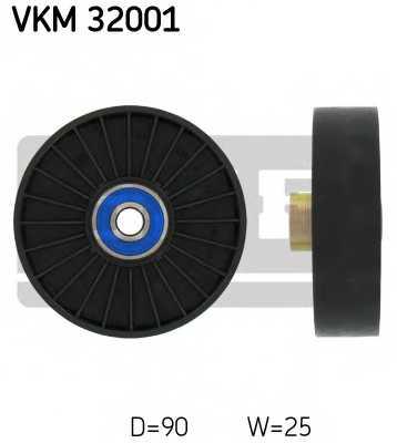 Паразитный / ведущий ролик поликлинового ременя SKF VKM 32001 - изображение