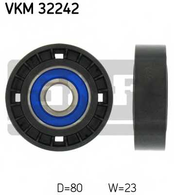Паразитный / ведущий ролик поликлинового ременя SKF VKM 32242 - изображение